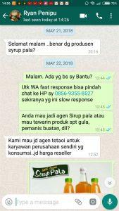 Chat WA Pertama dari Si Ryan Penipu
